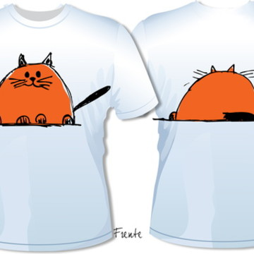 Camiseta Gato Fat