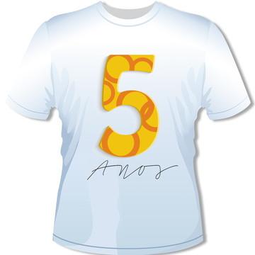 Camiseta 5 anos