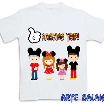 Camiseta Família em Férias - Disney