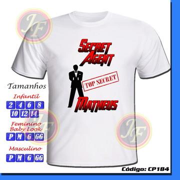 Camiseta Agente Secreto Personalizada