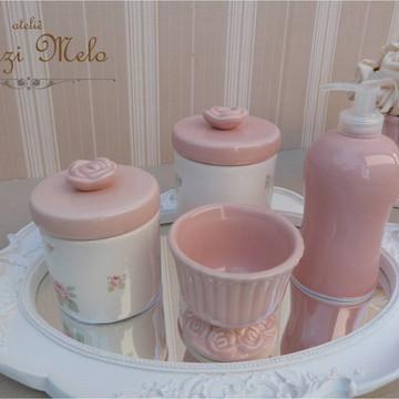 Kit Higiene floral rosas