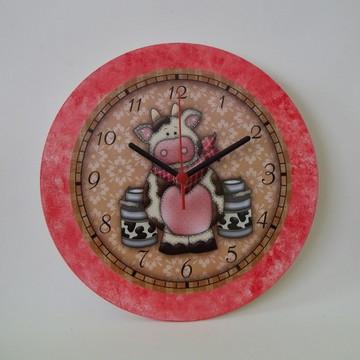 Relógio de parede em Mdf Decorado