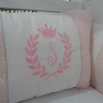 Kit Berço rosa coroa