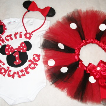 Kit Festa fantasia Minnie Vermelha