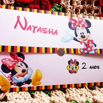 Convite Jornal Minnie Disney