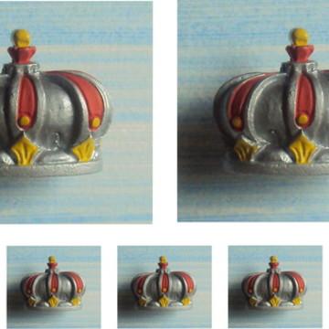 kit Puxadores Coroa Real Prata (05 peças