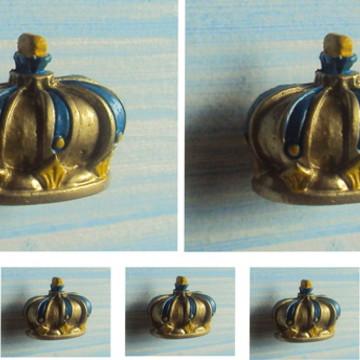 Kit Puxadores Coroa Real Dourada (06 peças)