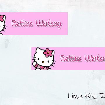 Mini etiquetas para lápis Hello Kitty