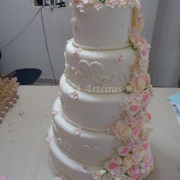 Bolo Falso Casamento Biscuit