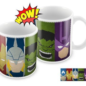 Caneca Personalizada - Super Heróis