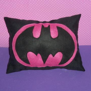 Almofada Batman/Batgirl Rosa