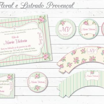 Provençal Floral e Listrado Kit Festa