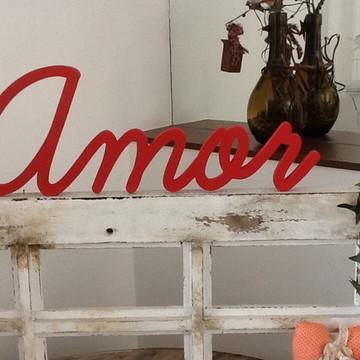 Palavra de parede Amor - 15cm 9mm