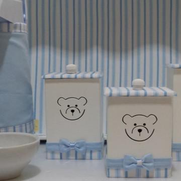 Kit Higiene Urso Azul Claro