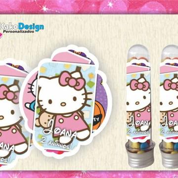 Rótulo para tubete Hello Kitty