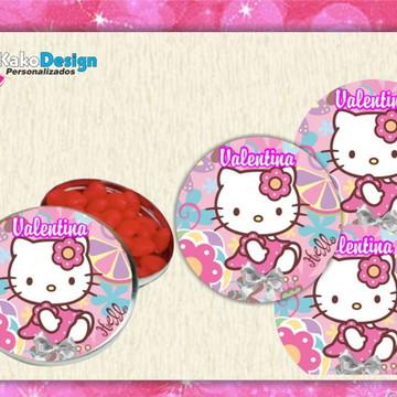 Adesivo para latinha Hello Kitty