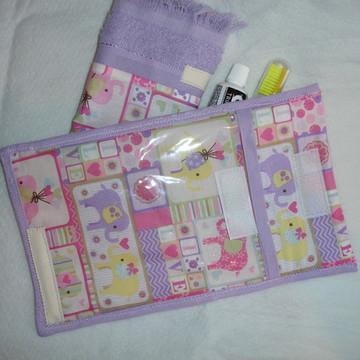 Kit higiene bucal com toalhinha