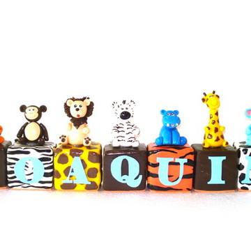 Cubinhos de Biscuit - Tema Safari