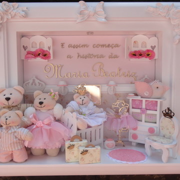Quadro Maternidade Bebê Família Urso P