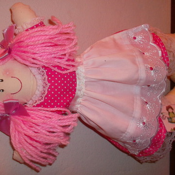 boneca de algodao cru