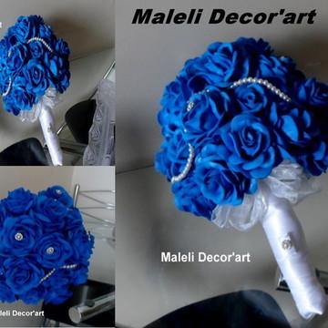Bouquet de noiva- Romântico azul