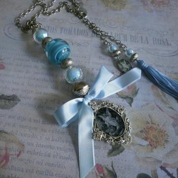 Medalhão Anjo da Guarda Azul
