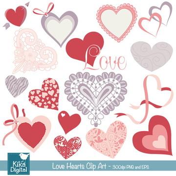 Clipart Corações Amor