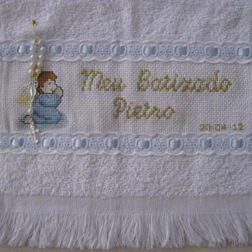 Toalha de Batizado Anjo Azul