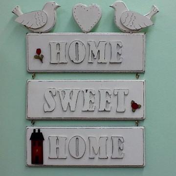 Placa Home Sweet Home Bird