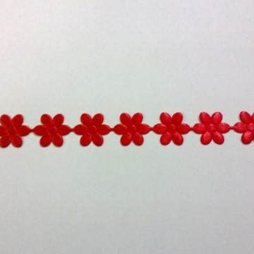 Aplique de flor vermelha