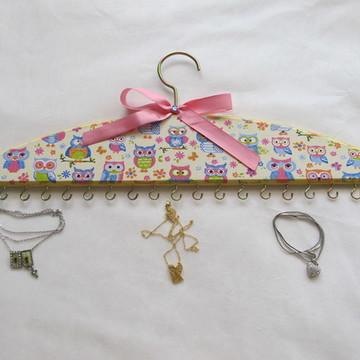 Cabide para colares e pulseiras Coruja
