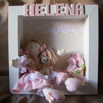 enfeite de porta maternidade boneca