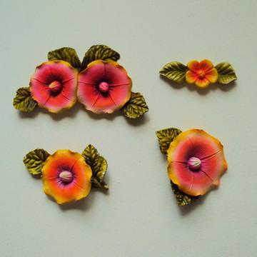 Kit Flores Coloridas, (04 peças)
