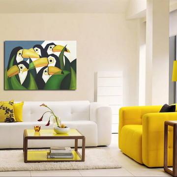 Quadro Decorativo Painel Tucanos 100x80