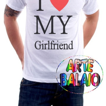 Linda Camiseta I Love My GirlFriend