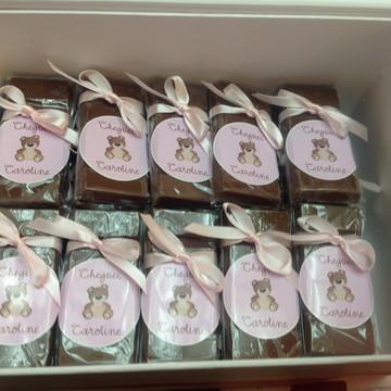 Caixa com 25 Barrinhas de Chocolate