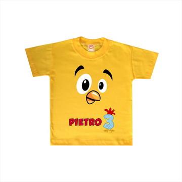 Camiseta de Aniversário Pintinho