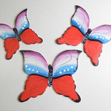 Decoração parede borboleta vermelha gg