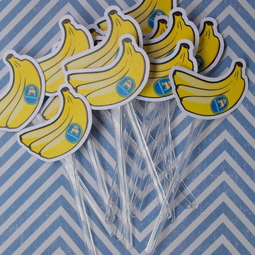 Topper Minions [Banana-Kit com 10}