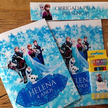 Lembrança Frozen - Livro para colorir
