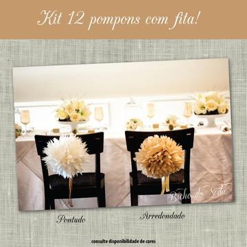 Conjunto 12 Pompons com Fita SPECIAL
