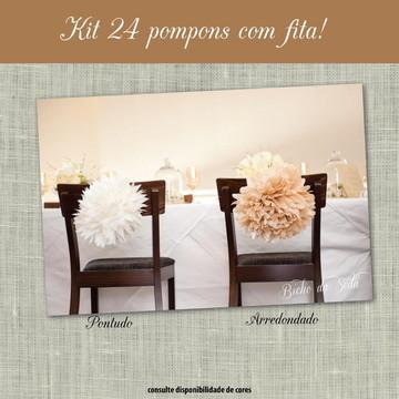 Conjunto Pompons com Fita PARTY LUXO