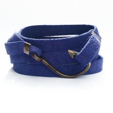 Pulseira Anzol Hope Camurça Azul Bic