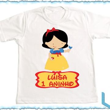 Camiseta Personalizada Branca de Neve 1