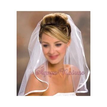 Véu Noiva Barrado de Fita veu01f
