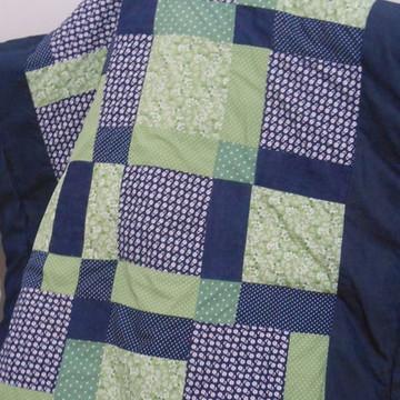 Tapete Infantil Patchwork Verde e Azul