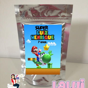 Super Mario - Saquinho Metalizado