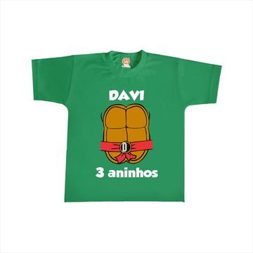 Camiseta de Aniversário Tartaruga Ninjas