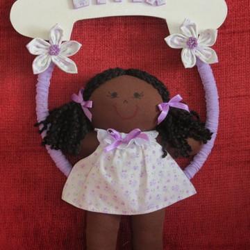 Enfeite de porta de maternidade boneca