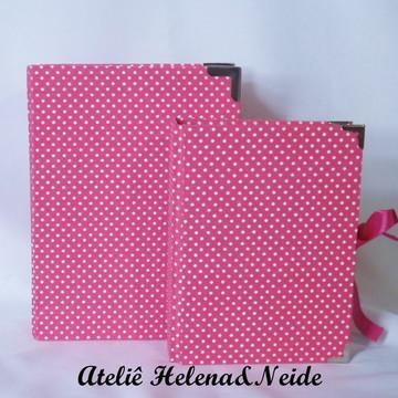 Kit Caixa e Álbum Fotos Pink